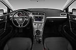 Stock photo of straight dashboard view of 2017 Volkswagen Golf S 5 Door Hatchback Dashboard