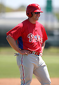 March 30, 2010:  Brian Stavisky of the Philadelphia Phillies organization during Spring Training at the Carpenter Complex in Clearwater, FL.  Photo By Mike Janes/Four Seam Images