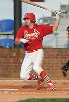 August 1, 2009: Infielder Rich Racobaldo (11) of the Johnson City Cardinals, 2009 37th round draft pick of the St. Louis Cardinals, in a game at Howard Johnson Field in Johnson City, Tenn. Photo by: Tom Priddy/Four Seam Images