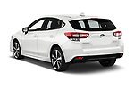 Car pictures of rear three quarter view of 2018 Subaru Impreza Premium 5 Door Hatchback Angular Rear