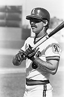 Bill Buckner of the California Angels during a 1988 spring training game in Palm Springs,California.(Larry Goren/Four Seam Images)