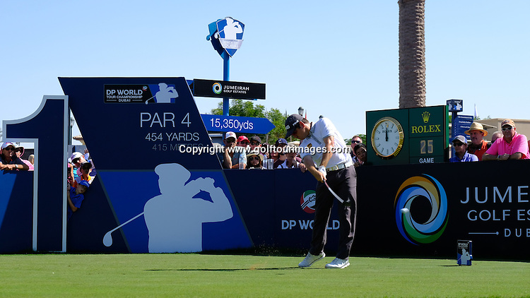 Louis Oosthuizen (RSA) during round two of the 2016 DP World Tour Championships played over the Earth Course at Jumeirah Golf Estates, Dubai, UAE: Picture Stuart Adams, www.golftourimages.com: 11/18/16