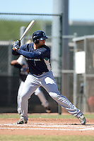 Seattle Mariners first baseman Kristian Brito (41) during an instructional league game against the Kansas City Royals on October 2, 2013 at Surprise Stadium Training Complex in Surprise, Arizona.  (Mike Janes/Four Seam Images)
