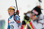MARTELL-VAL MARTELLO, ITALY - FEBRUARY 02: HOLOPAINEN Maija (FIN) after the Women 7.5 km Sprint at the IBU Cup Biathlon 6 on February 02, 2013 in Martell-Val Martello, Italy. (Photo by Dirk Markgraf)