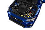Car stock 2018 Subaru WRX Base 4 Door Sedan engine high angle detail view