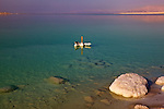 Dead Sea & Marker In Water