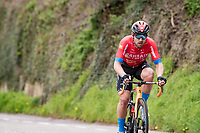 Sonny Colbrelli (ITA/Bahrain - Victorious) up the Geulhemmerberg<br /> <br /> 55th Amstel Gold Race 2021 (1.UWT)<br /> 1 day race from Valkenburg to Berg en Terblijt; raced on closed circuit (NED/217km)<br /> <br /> ©kramon