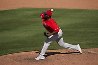 Philadelphia Phillies pitcher Hector Neris (50) during a Major League Spring Training game against the Baltimore Orioles on March 12, 2021 at the Ed Smith Stadium in Sarasota, Florida.  (Mike Janes/Four Seam Images)