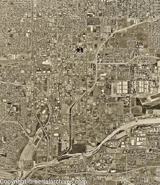 historical aerial photograph San Bernadino, California, 1994