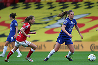 14th March 2021; Vicarage Road, Watford, Herts;  Melanie Leupolz Chelsea breaks on the ball during the FA Womens Continental Tyres League Cup final game between Bristol City and Chelsea at Vicarage Road Stadium in Watford. FA Womens Continental Tyres Cup Final