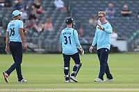 Simon Harmer of Essex celebrates taking the wicket of Ben Charlesworth during Gloucestershire vs Essex Eagles, Royal London One-Day Cup Cricket at the Bristol County Ground on 3rd August 2021