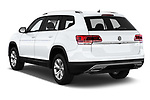 Car pictures of rear three quarter view of a 2019 Volkswagen Atlas S 5 Door SUV angular rear