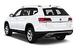 Car pictures of rear three quarter view of a 2019 Volkswagen Atlas S 5 Door SUV angular rear