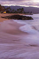 Twilight hour at Haleiwa Alii beach park, North shore Oahu