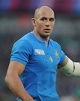 Sergio Parisse of Italy during Match 28 of the Rugby World Cup 2015 between Ireland and Italy - 04/10/2015 - Queen Elizabeth Olympic Park, London<br /> Mandatory Credit: Rob Munro/Stewart Communications