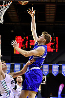 Isaac Miller-Jose of the Wellington Saints shoots the ball during the NBL match between the Wellington Saints and the Auckland Huskies at TSB Bank Arena, Wellington, New Zealand on Friday 28 May 2021.<br /> Photo by Masanori Udagawa. <br /> www.photowellington.photoshelter.com