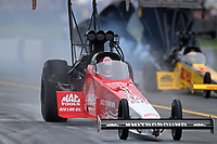 Sep 14, 2019; Mohnton, PA, USA; NHRA top fuel driver Doug Kalitta during qualifying for the Reading Nationals at Maple Grove Raceway. Mandatory Credit: Mark J. Rebilas-USA TODAY Sports