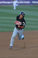 Isiah Kiner-Falefa (4) of the High Desert Mavericks runs the bases during a game against the Rancho Cucamonga Quakes at LoanMart Field on August 3, 2015 in Rancho Cucamonga, California. Rancho Cucamonga defeated High Desert, 2-1. (Larry Goren/Four Seam Images)