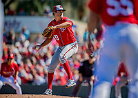 29 February 2020: Washington Nationals pitcher Ryne Harper on the mound during a Spring Training game against the St. Louis Cardinals at Roger Dean Stadium in Jupiter, Florida. The Cardinals defeated the Nationals 6-3 in Grapefruit League play. Mandatory Credit: Ed Wolfstein Photo *** RAW (NEF) Image File Available ***