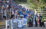 St Johnstone v FC Luzern...24.07.14  Europa League 2nd Round Qualifier<br /> Police and stewards try to control the Luzern fans<br /> Picture by Graeme Hart.<br /> Copyright Perthshire Picture Agency<br /> Tel: 01738 623350  Mobile: 07990 594431