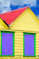 Colorful local Caribbean shack, St Johns, Antigua, Caribbean