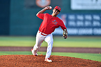 Johnson City Cardinals pitcher Will Changarotty (37) delivers a pitch during a game against the Danville Braves at TVA Credit Union Ballpark on July 23, 2017 in Johnson City, Tennessee. The Cardinals defeated the Braves 8-5. (Tony Farlow/Four Seam Images)