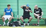 Ally McCoist having a laugh with Lewis Macleod and the doc