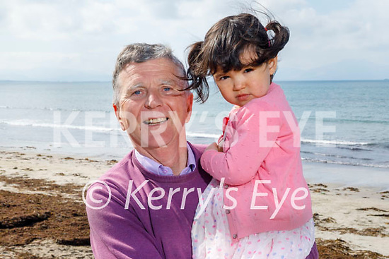 Enjoying a stroll on Ballyheigue beach on Easter Sunday, l to r: Brendan and Saoirse Moriarty.