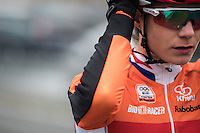 Marianne Vos (NED/WM3) getting ready for the start<br /> <br /> Women's Race<br /> UCI 2017 Cyclocross World Championships<br /> <br /> january 2017, Bieles/Luxemburg