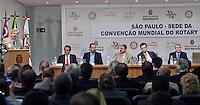 SAO PAULO,SP, 10 DE FEVEREIRO DE 2012 - CONVENCAO MUNDIAL DO ROTARY 2015 EM SP - Anuncio da cidade de Sao Paulo como Sede da Convencao Mundial do Rotary em 2015 nesta sexta-feira (10), na sede da Prefeitura, zona central da cidade.  FOTO RICARDO LOU - NEWS FREE.