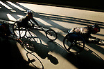 Wheelchair athletes cross the Queensboro bridge from Queens into Manhattan during the ING New York City Marathon in New York, New York on November 4, 2007.  Kurt Fearnley (AUS) won the race with a time of 1:33:58.