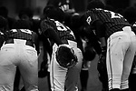 Japanese players celebrating during the BFA Women's Baseball Asian Cup match between Pakistan and Japan at Sai Tso Wan Recreation Ground on September 4, 2017 in Hong Kong. Photo by Marcio Rodrigo Machado / Power Sport Images<br /> <br /> (EDITOR NOTE... Black and White Changed on Lightroom)