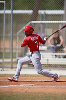 St. Louis Cardinals Magneuris Sierra (7) during a minor league Spring Training game against the New York Mets on March 28, 2017 at the Roger Dean Stadium Complex in Jupiter, Florida.  (Mike Janes/Four Seam Images)