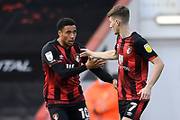 Arnaut Danjuma of AFC Bournemouth left thanks provider David Brooks of AFC Bournemouth after scoring the second goal during AFC Bournemouth vs Reading, Sky Bet EFL Championship Football at the Vitality Stadium on 21st November 2020