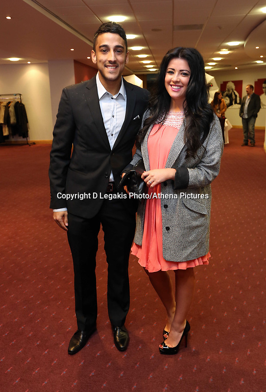 Pictured: Wednesday 10 April 2013<br /> Re: Swansea footballer Angel Rangel and wife Nicky's cancer charity fundraising dinner at the Liberty Stadium.<br /> Neil Taylor