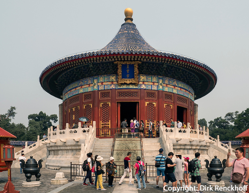 Himmelsgewölbe im Himmelstempel Park, Peking, China, Asien, UNESCO-Weltkulturerbe<br /> Heavenly vault, park of temple of Heaven, Beijing, China, Asia, world heritage