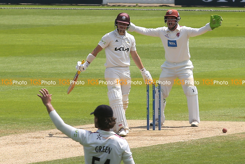 Surrey batsman, Rory Burns, survives an lbw appeal during Surrey CCC vs Somerset CCC, LV Insurance County Championship Group 2 Cricket at the Kia Oval on 13th July 2021