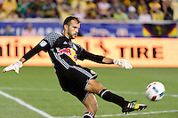 Harrison, NJ - Wednesday July 06, 2016: Kyle Reynish during a friendly match between the New York Red Bulls and Club America at Red Bull Arena.