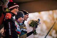 podium:<br /> 1/ Sanne Cant (BEL/Iko-Beobank)<br /> 2/ Loes Sels (BEL/Pauwels)<br /> 3/ Ellen Van Loy (BEL/Telenet Fidea Lions)<br /> <br /> women's race<br /> Soudal Jaarmarktcross Niel 2018 (BEL)