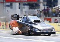 Apr 11, 2015; Las Vegas, NV, USA; NHRA funny car driver Jeff Arend during qualifying for the Summitracing.com Nationals at The Strip at Las Vegas Motor Speedway. Mandatory Credit: Mark J. Rebilas-