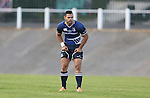 Leinster centre Ben Te'o.<br /> British & Irish Cup<br /> Carmarthen Quins v Leinster A<br /> Carmarthen Park<br /> 25.10.14<br /> ©Steve Pope-SPORTINGWALES