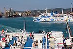 Piombino, Ferry to Elba; Province of Livorno; Mediterranean Sea; Tyrrhenian Sea; Tuscan archipelago, Italy; West coast of Italy, Italian Coast, Tuscan coast,