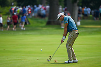 4th July 2021, Detroit, MI, USA;  Richy Werenski (USA) hits his approach shot no 1 during the Rocket Mortgage Classic Rd4 at Detroit Golf Club on July 4,