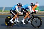 Robbi Weldon and Audrey Lemieux, Rio 2016 - Para Cycling // Paracyclisme.<br /> Robbi Weldon and Audrey Lemieux compete in the Para Cycling Time Trial Women's B // Robbi Weldon et Audrey Lemieux participent au contre-la-montre de paracyclisme féminin B. 14/09/2016.