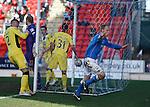 Steven Anderson celebrates his goal for St Johnstone