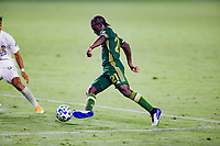 CARSON, CA - OCTOBER 07: Diego Chara #21 of the Portland Timbers moves with the ball during a game between Portland Timbers and Los Angeles Galaxy at Dignity Heath Sports Park on October 07, 2020 in Carson, California.