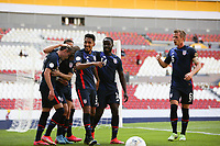GUADALAJARA, MEXICO - MARCH 18: Jesus Ferreira #9 of the United States celebrates scoring with teammates during a game between Costa Rica and USMNT U-23 at Estadio Jalisco on March 18, 2021 in Guadalajara, Mexico.