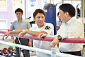 Boxing : Media workout at Ohashi Boxing Gym in Yokohama
