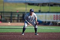 Tri-City Dust Devils first baseman Justin Paulsen (24) during a Northwest League game against the Everett AquaSox at Everett Memorial Stadium on September 3, 2018 in Everett, Washington. The Everett AquaSox defeated the Tri-City Dust Devils by a score of 8-3. (Zachary Lucy/Four Seam Images)