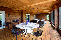 dining table at patio
